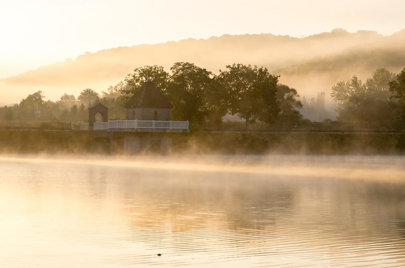 Misty Morning at North Park Lake