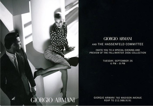 Giorgio Armani & The Hassenfeld Committee Host Preview of Fall/Winter 2006 Collection