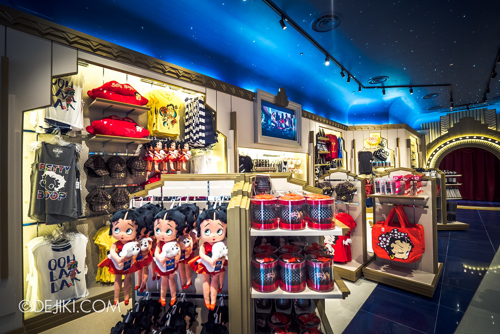 Universal Studios Singapore - Silver Screen Store Betty Boop merchandise shelves
