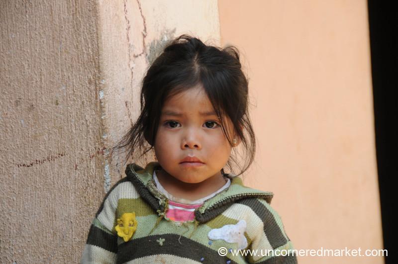 Shy Guatemalan Girl - Totonicapan, Guatemala