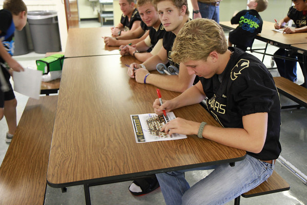 FB & Cheer Autograph Signing @ Elementary 2012