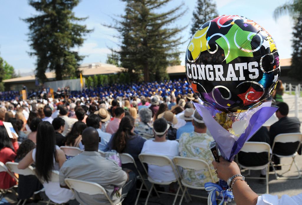 . Chaminade College Preparatory High School, celebrating its 60th anniversary, graduated 337 students at the West Hills campus on Saturday, June 01, 2013.  (Dean Musgrove/Los Angeles Daily News)