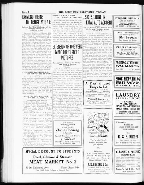 The Southern California Trojan, Vol. 8, No. 63, February 07, 1917