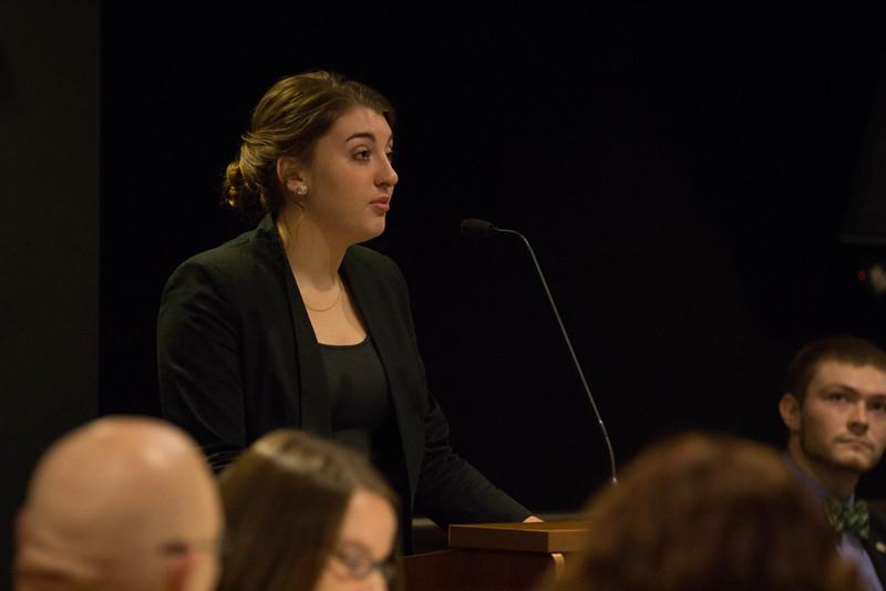 Emily DeVries, Lambda Pi Eta Secretary.