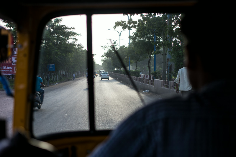 "A ride in an ""auto"" ... a motorized rickshaw."