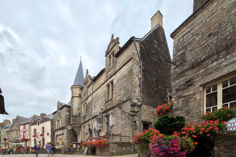 Typical architecture, town of Rochefort-en-Terre, departament of Morbihan, region of Brittany, France