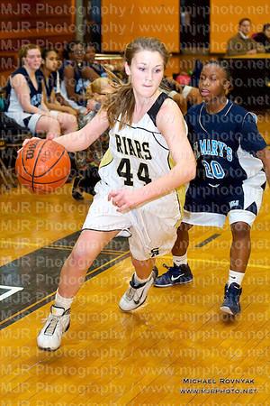 St Anthonys Vs St Marys, Girls JV Basketball 02.10.11