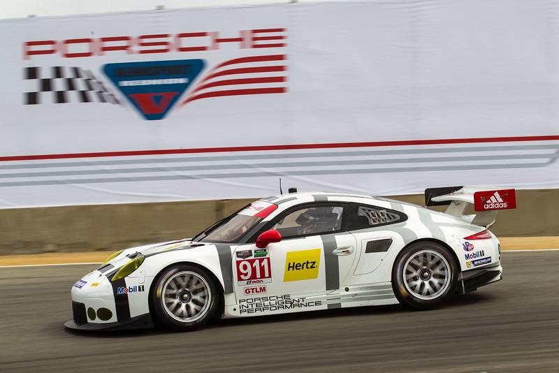 Porsche Exhibition Laps with 919 (Bamber) &  911 RSR (Makowiecki) 2015 Porsche Rennsport Reunion V at Mazda Raceway Laguna Seca