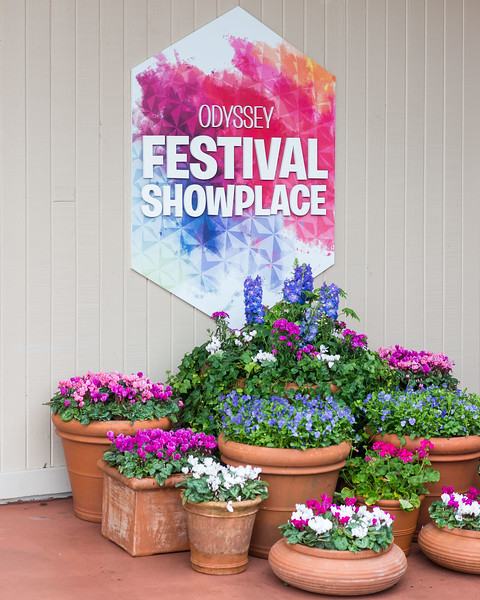 Odyssey Flowers - Epcot International Festival of the Arts 2017