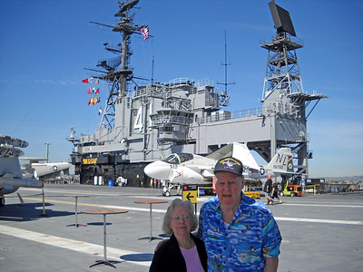 Jenny on the USS Midway