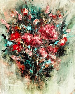 """""""From the Garden"""" (mixed media) by Lindalee Holmes"""