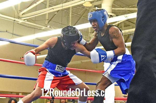 Bout 12 Damon Jackson, Blue Gloves -vs- Ramon Santana, Red Gloves, 3 Min. Rds.