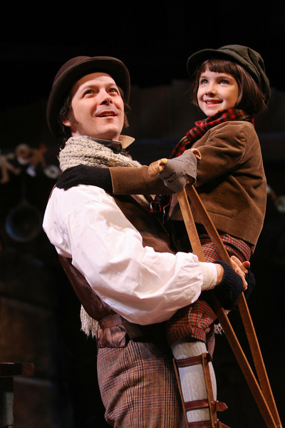 Geva Theatre Center's most recent reboot of A Christmas Carol with Jim Poulos as Bob Cratchit  this is a staged shot, since they never do that lovely, looking at the balcony, thing we needed for the season signage  :-)