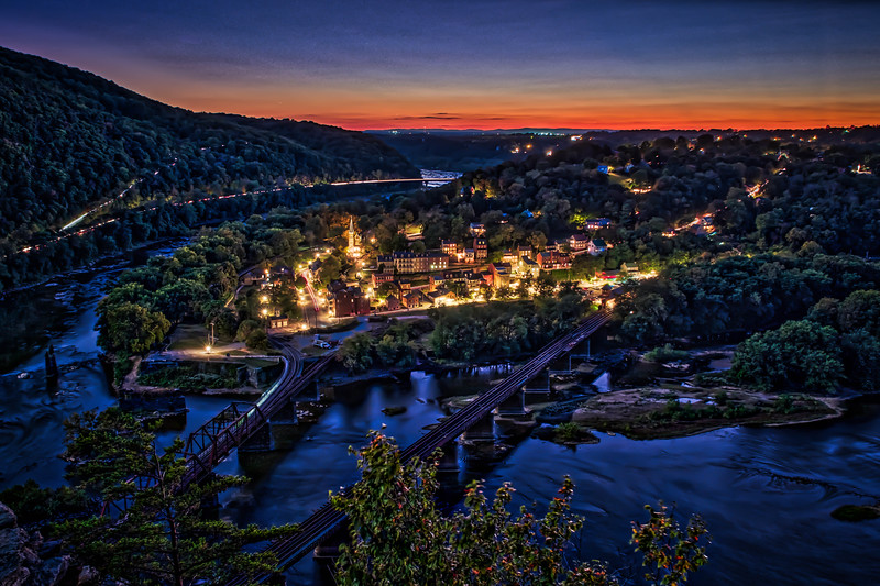 harper's ferry from maryland heights