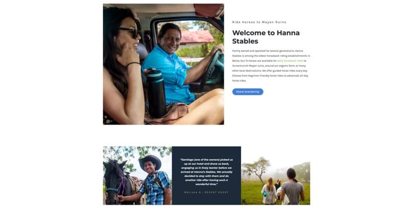 Hanna Stables Website Design