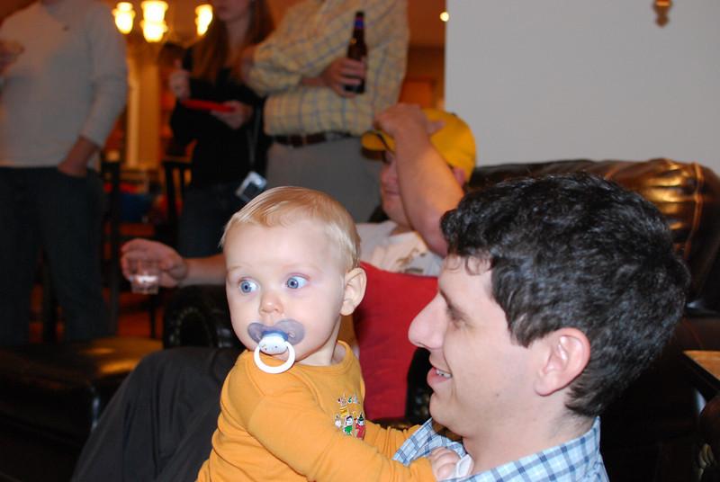 Aedan with his Dad.