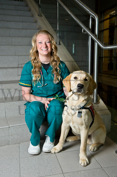 15814 4Paws and College of Nursing Student Brittany Clark 6-4-15
