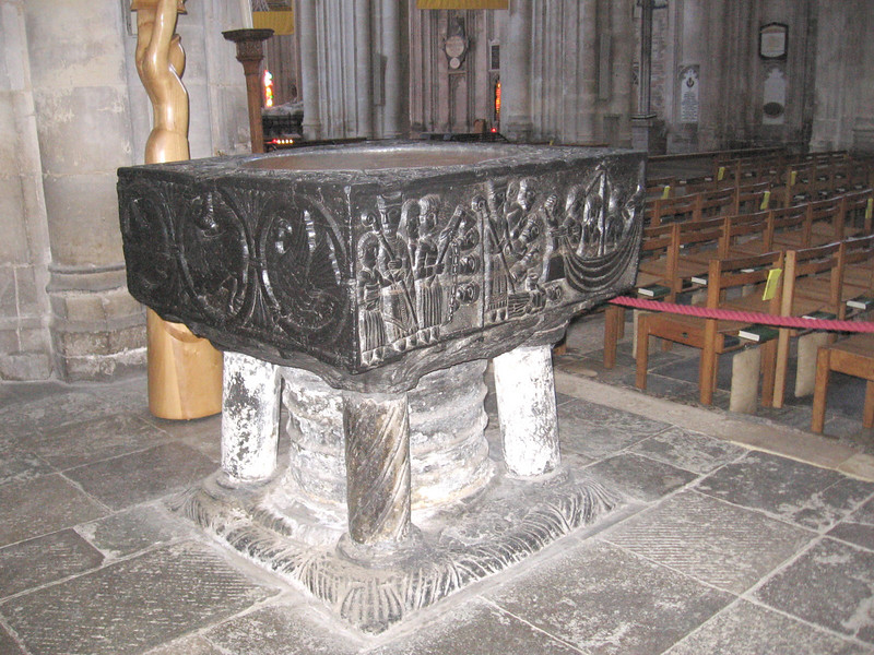 Twelfth century font, Winchester Cathedral