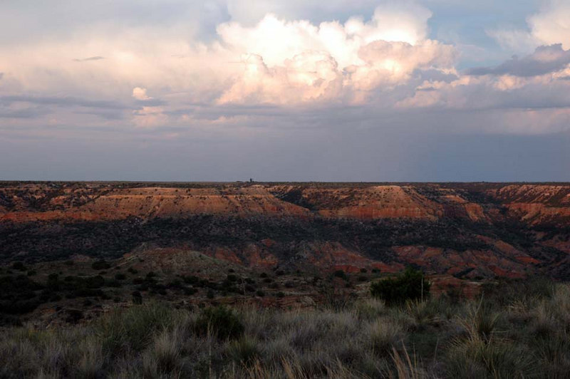 Very scenic views, due to recent rains and the setting sun.