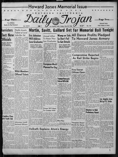 Daily Trojan, Vol. 37, No. 135, May 24, 1946