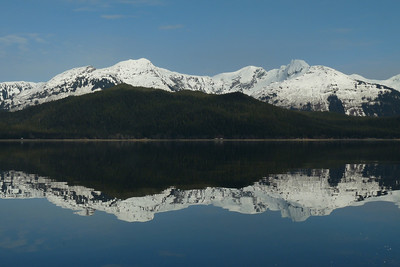 West Tenakee Shoreline Reflection March 2011, Cynthia Meyer, Tenakee Inlet, Alaska