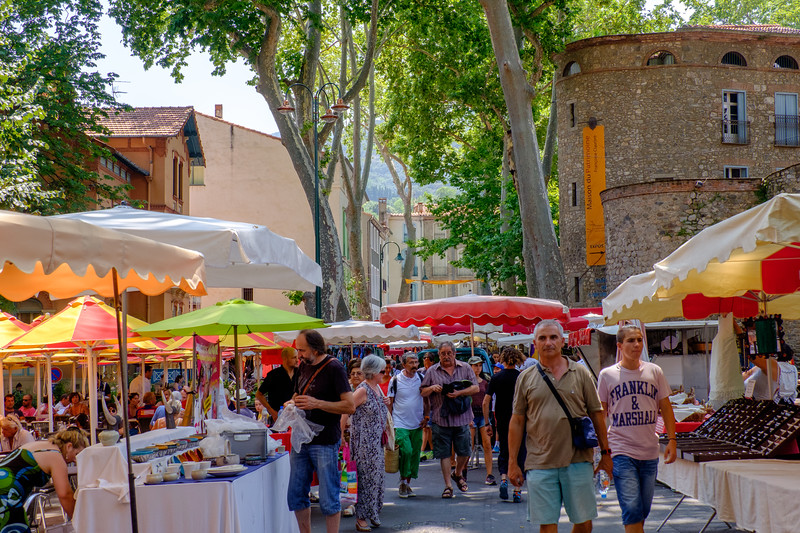 A week's holiday based at St Nazaire near Perpignan, in southern France.  Céret on Saturday 18 July 2015.