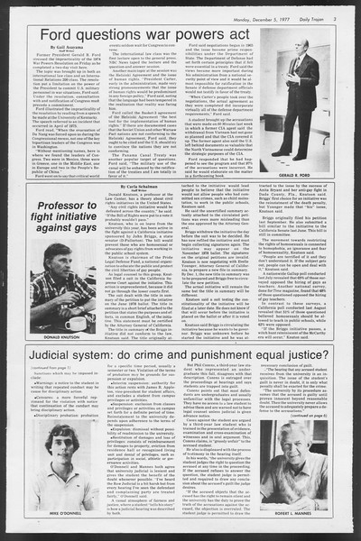 Daily Trojan, Vol. 72, No. 50, December 05, 1977
