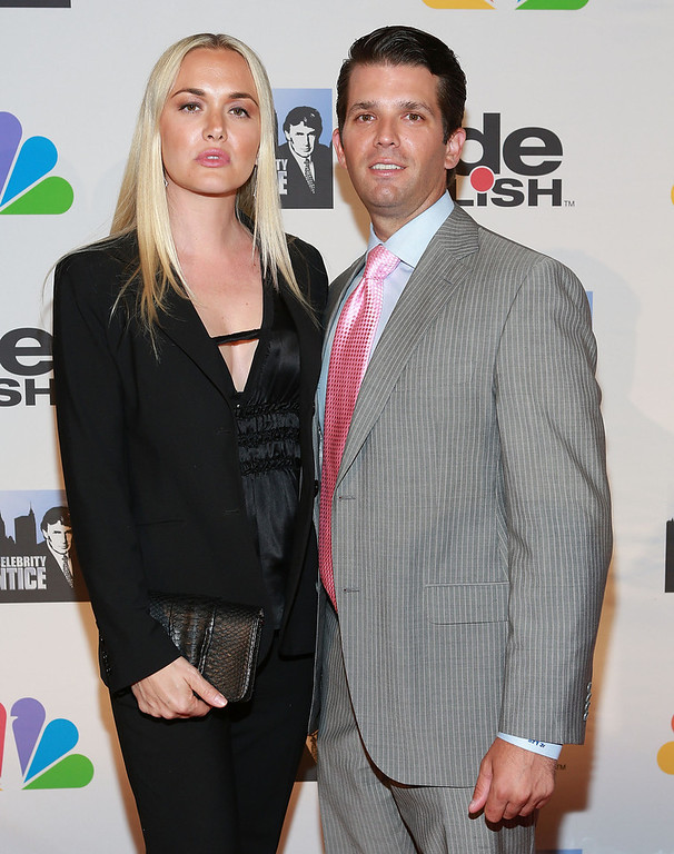 """. Vanessa Trump (L) and Donald Trump Jr. attend \""""All Star Celebrity Apprentice\"""" Finale at Cipriani 42nd Street on May 19, 2013 in New York City.  (Photo by Robin Marchant/Getty Images)"""