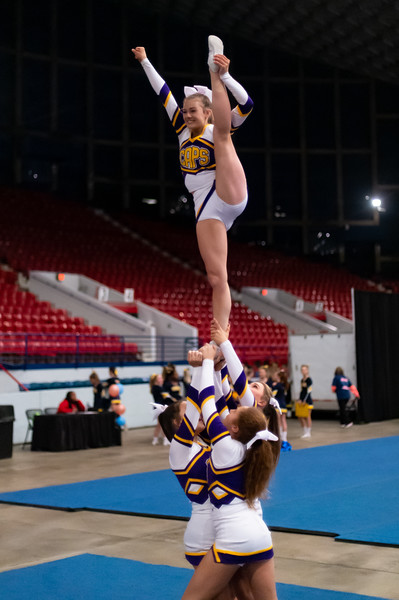 Broughton cheerleading Pre-States. November 16, 2019. D4S_1597