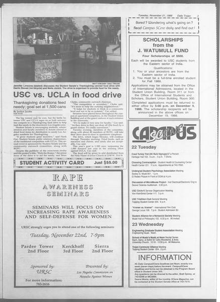 Daily Trojan, Vol. 107, No. 54, November 22, 1988