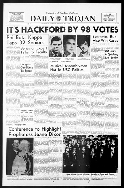 Daily Trojan, Vol. 57, No. 115, May 05, 1966