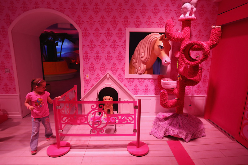 . Lina, 7, visits the Barbie Dreamhouse Experience on May 16, 2013 in Berlin, Germany. The Barbie Dreamhouse is a life-sized house full of Barbie fashion, furniture and accessories and will be open to the public until August 25 before it moves on to other cities in Europe.  (Photo by Sean Gallup/Getty Images)