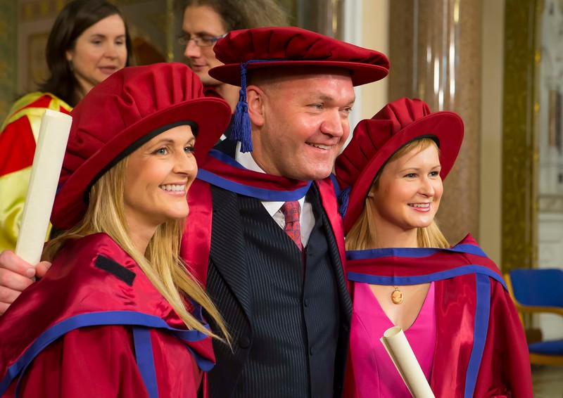 Waterford Institute Of Technology Conferring. Pictured at WIT Waterford Institute Of Technology Conferring is Geraldine Cleere, Waterford, Phil Brennan, Waterford, Jill O'Mahoney, Waterford who were conferred a Doctor of Philosophy. Picture: Patrick Browne