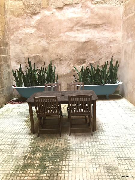 Valletta, Malta.    Courtyard of our Flat   03/23/2019