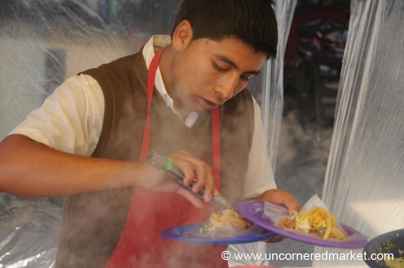 Taco Vendor - Xela, Guatemala