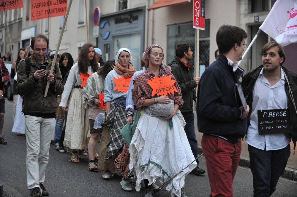 . Some of 600 opponents of same-sex marriages protest on April 23, 2013 in the western French city of Nantes. The French parliament on April 23 defied months of angry protests by approving a bill that is to make France the 14th country worldwide to legalize same-sex marriages. But opponents to the law vowed to fight on, quickly filing a constitutional challenge and promising more demonstrations to pressure President Francois Hollande into backing down from signing the bill.   FRANK PERRY/AFP/Getty Images
