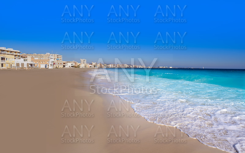 Santa Pola Tamarit beach in Alicante Spain