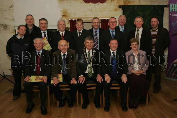 Pictured are Councillors at the official opening of Bagenal's Castle on Tuesday. 07W13N29