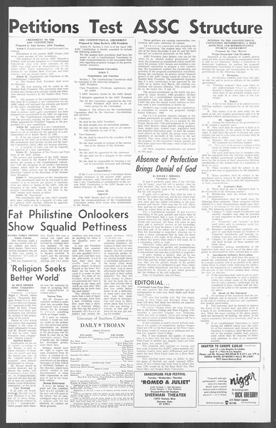 Daily Trojan, Vol. 56, No. 46, December 01, 1964