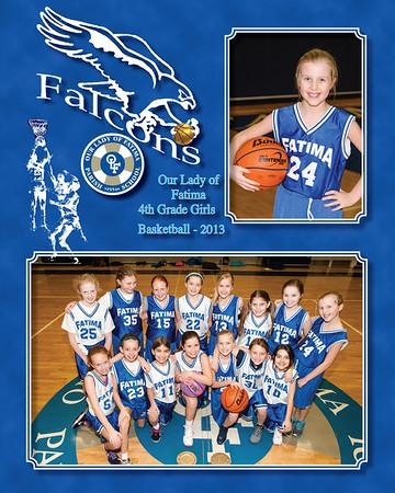 4th Gr Girls hoops 2013