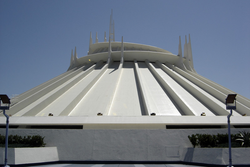 Space Mountain is now much darker inside, but the exterior looks unchanged