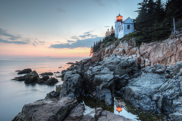 Bass Lighthouse Reflection, Bass Harbor, Me.