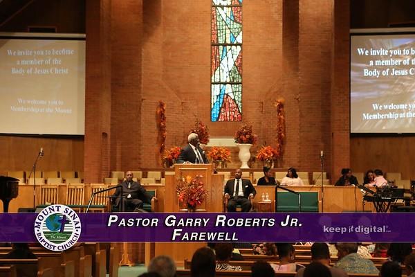 Pastor Garry Roberts Farewell