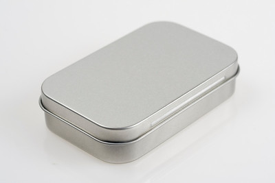 PK04-STX Small tin box hinged top