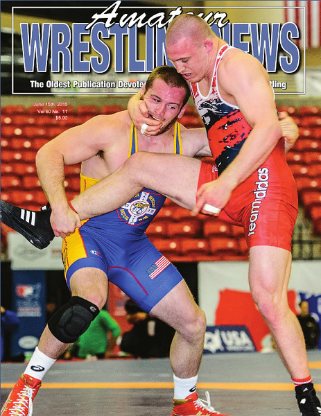 Amateur Wrestling News Cover, June, 2015