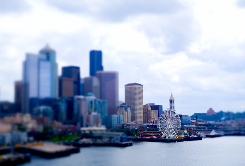 Tilt-Shift view of Seattle's Great Wheel