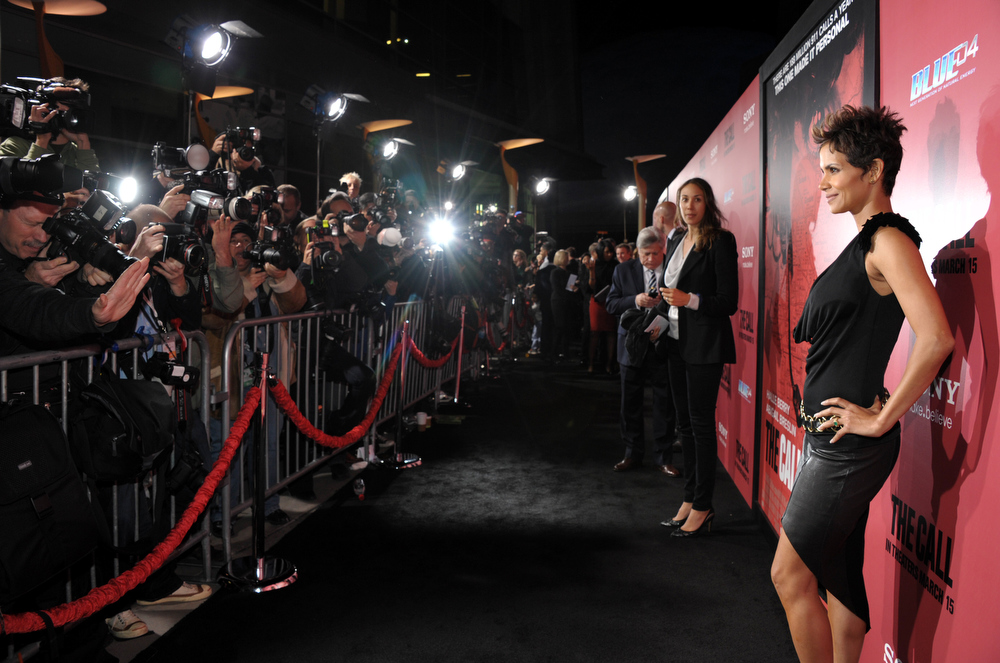 """. Actress Halle Berry arrives at the world premiere of \""""The Call\"""" at the Arclight Hollywood on Tuesday, March 5, 2013 in Los Angeles. (Photo by John Shearer/Invision/AP)"""