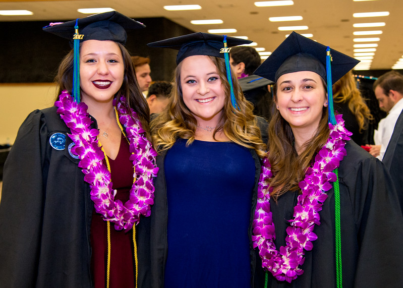 Over 840 Islanders Islanders representing the university's five academic colleges received their degrees during two commencement ceremonies held on December 16, 2017.