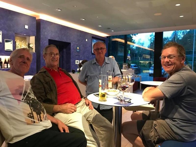Steve (L), Ian G3ROO, John G4CVC, Charlie W6KK