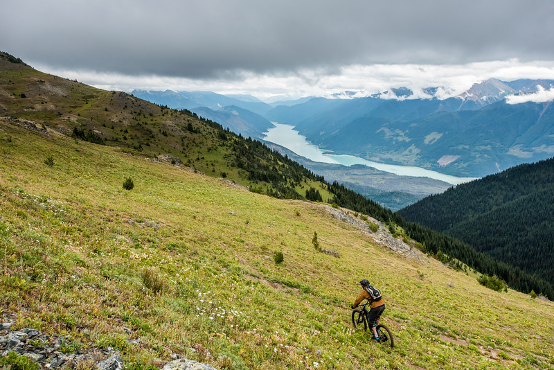 Mountain biking in Chilcotin mountains, British Columbia, Canada.